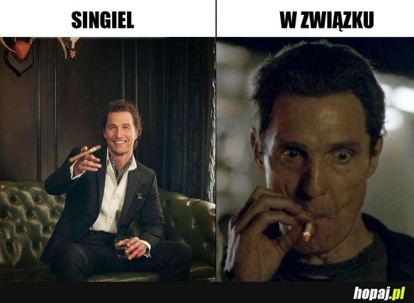 Bycie w związku vs. bycie singlem