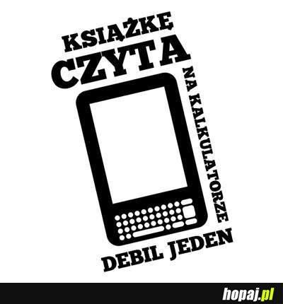 Książkę czyta na kalkulatorze