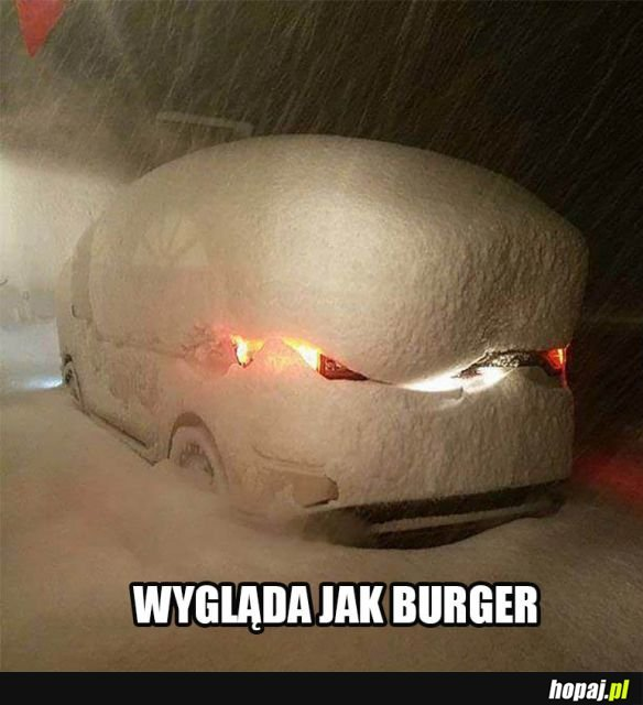 Zaśnieżony samochód