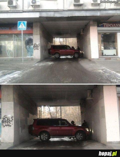 Takie parkowanie, tylko w Rosji