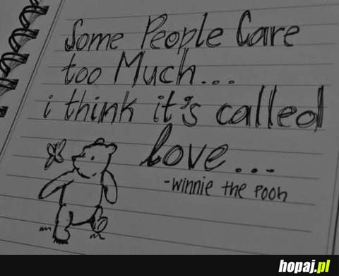 Some people care too much... - Puchatek ma rację