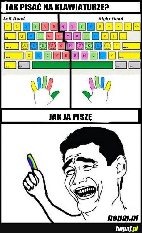Jak powinno się pisać na klawiaturze?