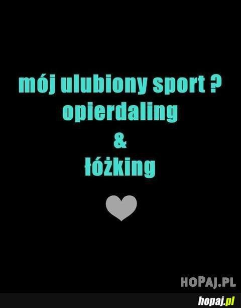 Mój ulubiony sport?