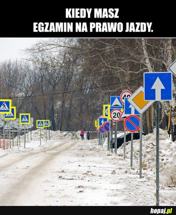 EGZAMIN NA PRAWO JAZDY.