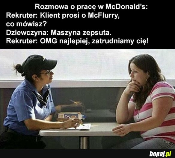 Rozmowa w McD