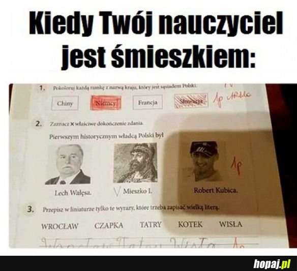 Nauczyciel śmieszek