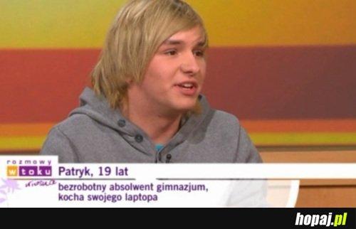 Patryk, 19 lat