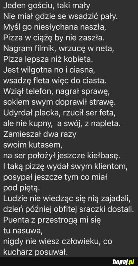 """Nowa ulotka pizzerii """"mefisto"""" w murowanej goślinie"""