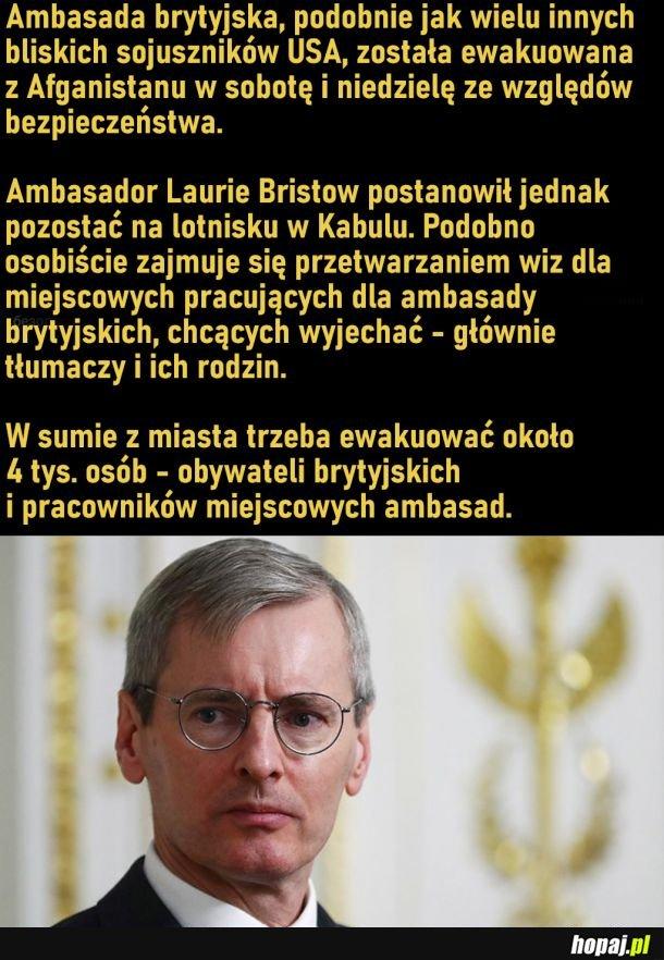 Brytyjski ambasador został w Kabulu