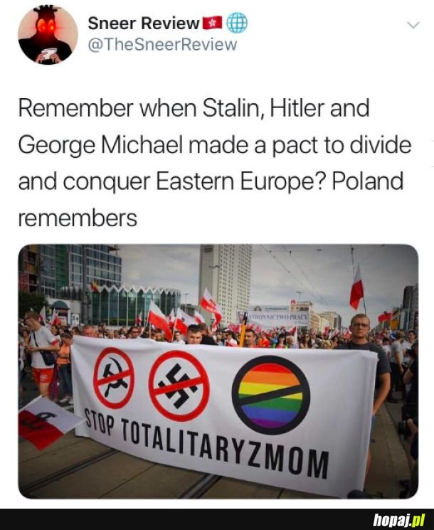 George Michael współuczestnikiem paktu Hitlera i Stalina przeciw Polsce