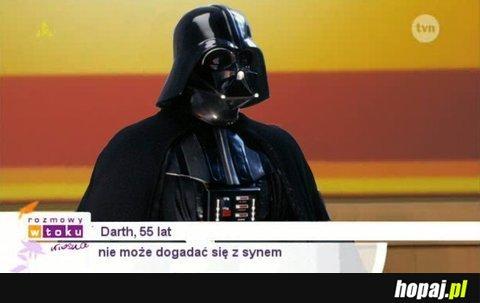 Darth, 55lat - nie może dogadać sięz synem