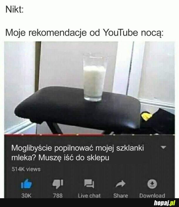 Dzięki, Youtube