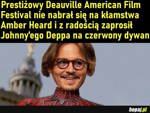Johnny Depp na festiwalu filmowym