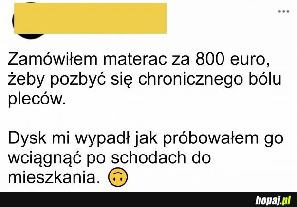 Nowy materac