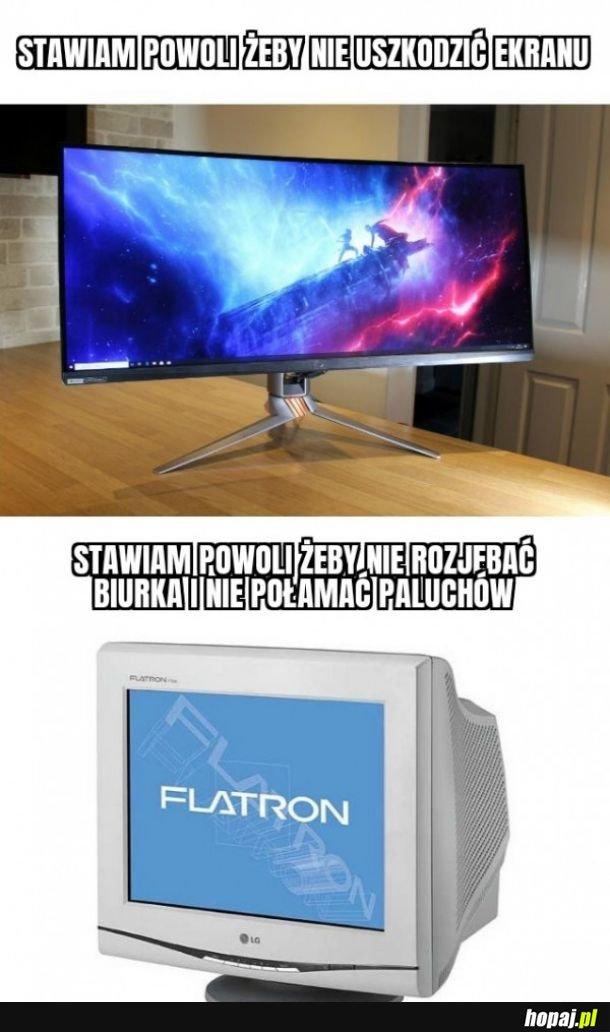 Uszkodzenie ekranu