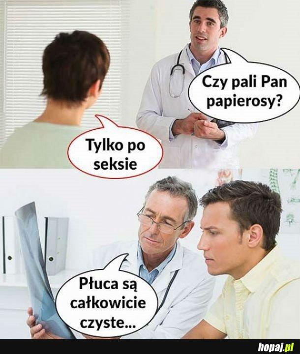 Przychodzę do lekarza i...