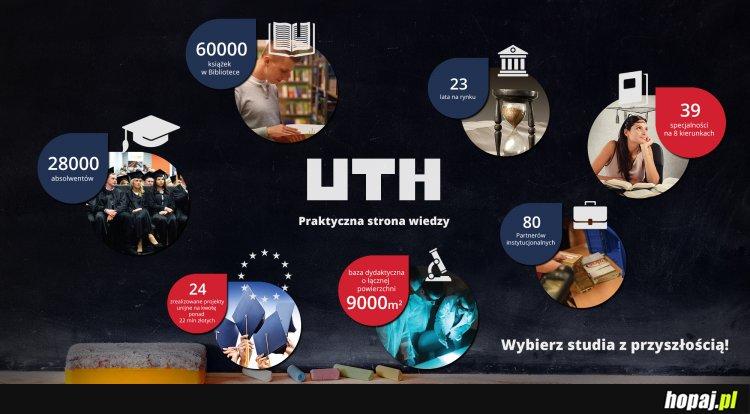 UTH w Warszawie kształci od 1992 roku na 8 kierunkach i 39 specjalnościach.