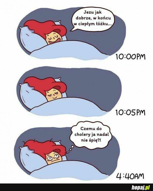 Ciepłe łóżeczko.