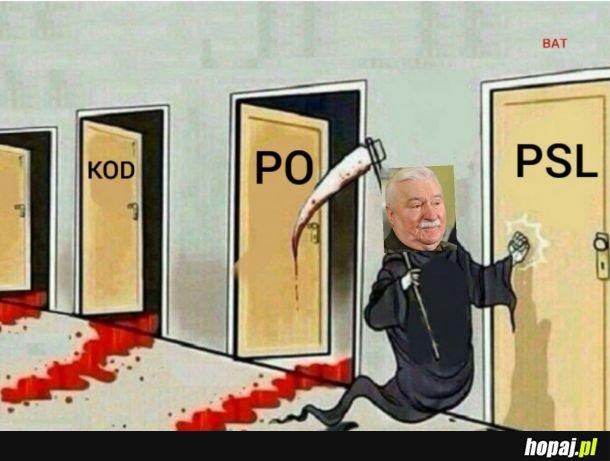 Lech Wałęsa ogłosił właśnie rozstanie z KO i poparł w wyborach PSL