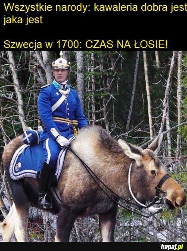 Szwedzka kawaleria z przytupem