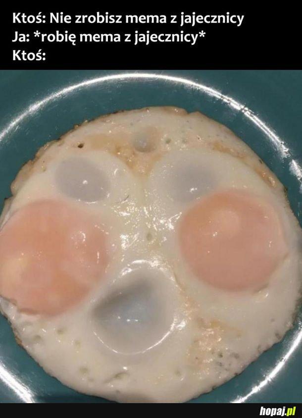 Mem z jajecznicy