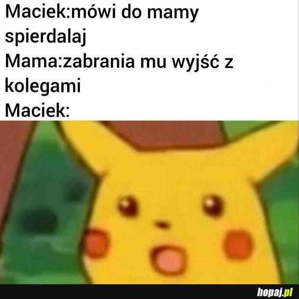 Zdziwiony Maciek