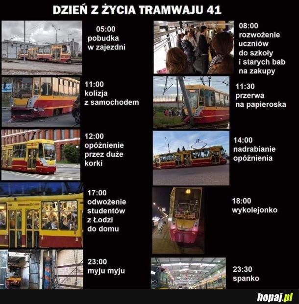 Ciężkie jest życie tramwaja
