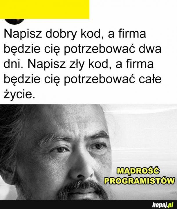 Mądrość programistów