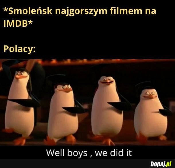 Jeszcze tylko Złota Malina dla tego pornola, o tym, jak fajny jest gwałt, i będę zadowolony z polskiej kinematografii
