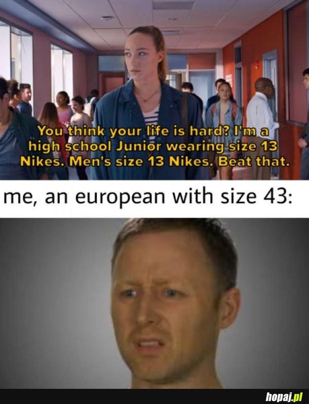 Ja noszę 42.