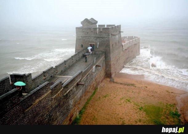 Tak wygląda koniec Muru Chińskiego.