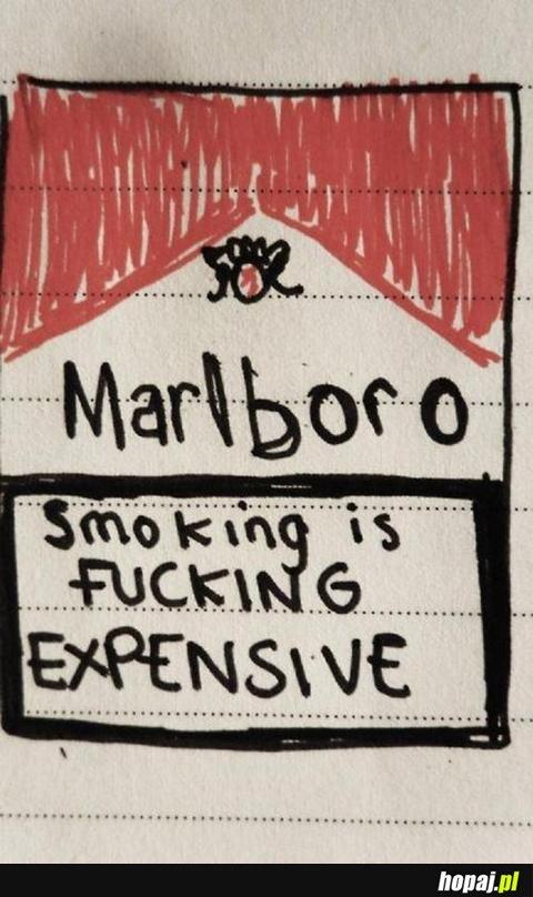 Palenie jest drogie...