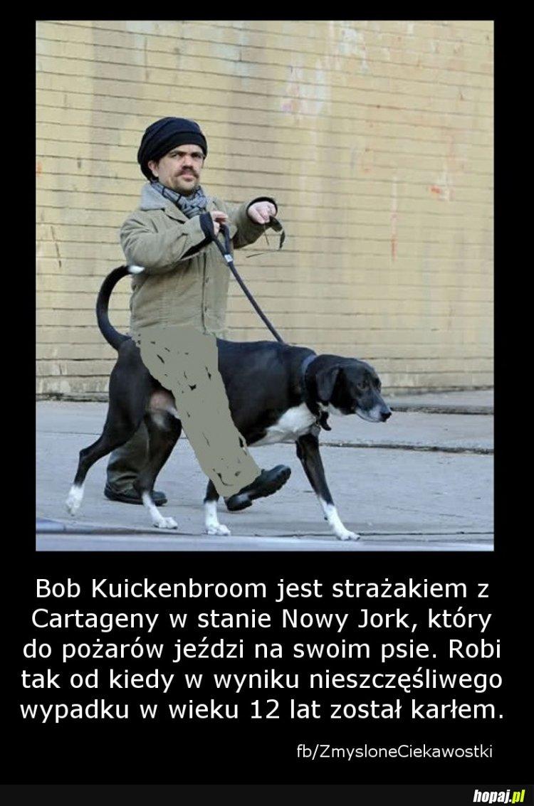 Bob Kuickenbroom - strażak karzeł na psie
