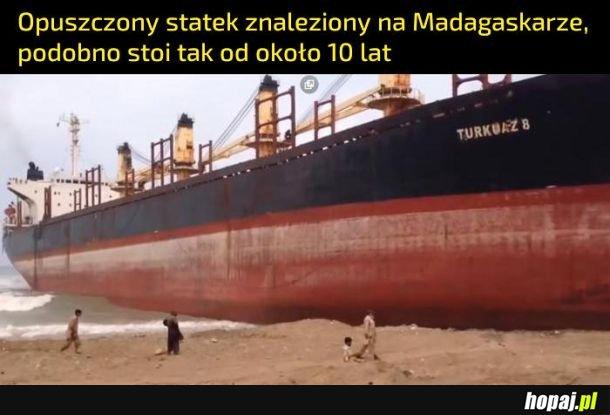 Statek na Madagaskarze