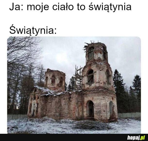 Waląca się świątynia