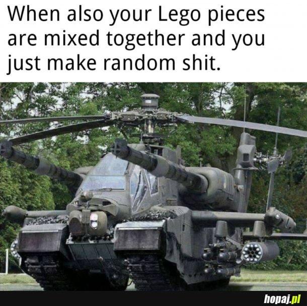 Mieszanie zestawów Lego