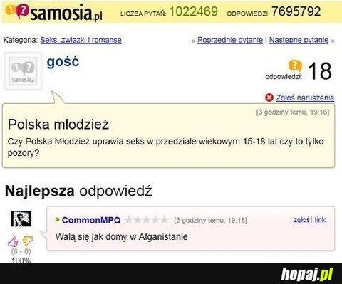 Czy polska młodzież uprawie seks/