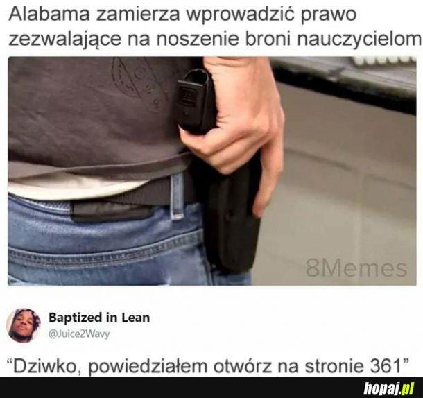 Broń i nauczyciele