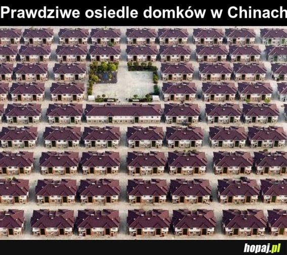 Osiedle domków w Chinach