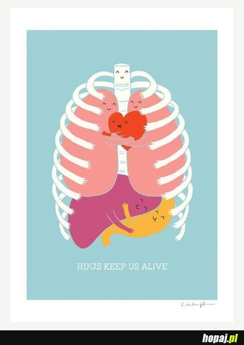 Przytulanie trzyma nas przy życiu <3