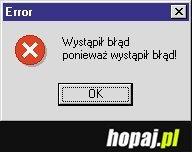 Wystąpił błąd ponieważ... - Hopaj.pl