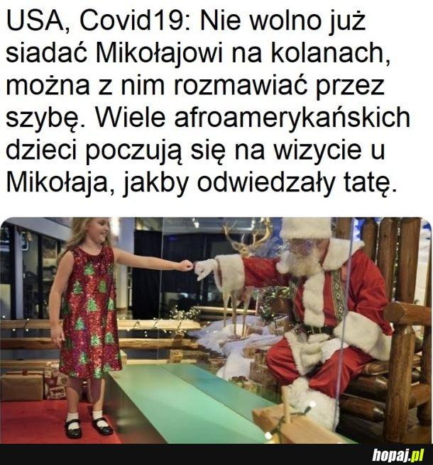 Mikołaj za pleksiglasem