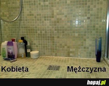 Prysznic kobiety i mężczyzny
