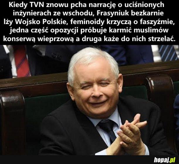 Największym sprzymierzeńcem Kaczyńskiego jest opozycja złożona z błaznów