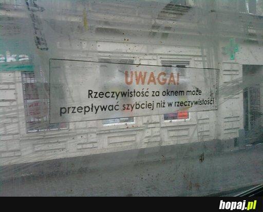 Rzeczywistość za oknem