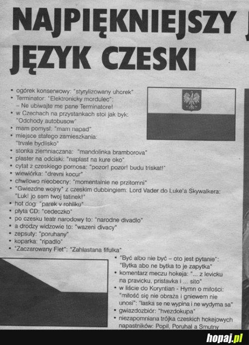Najpiękniejszy język czeski