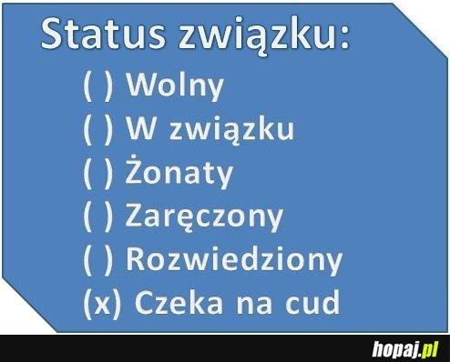 Jaki jest Twój status związku?