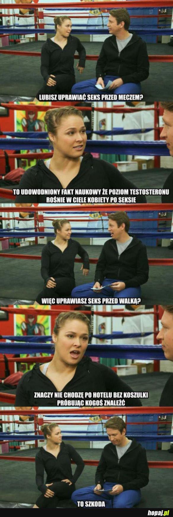 Zastrzyk testosteronu przed walką