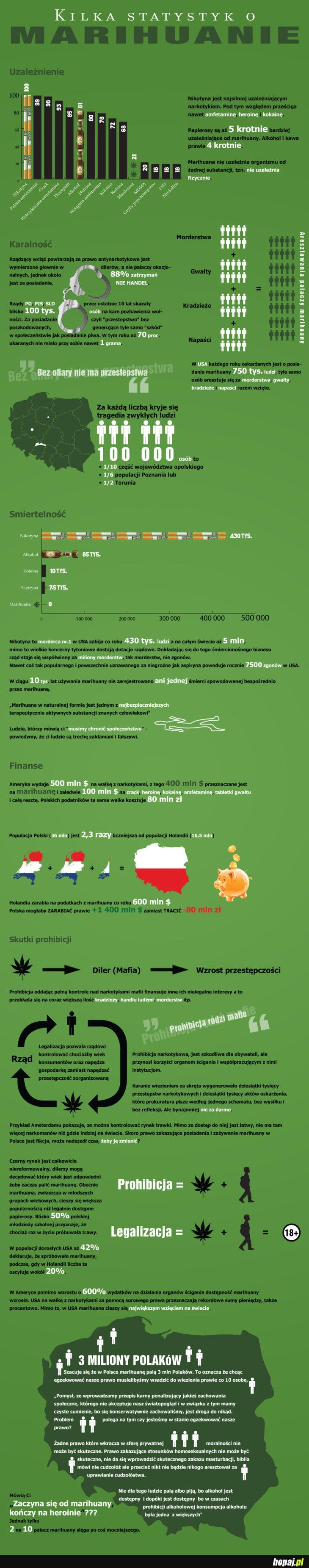 Kilka statystyk o marihuanie