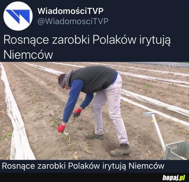 Zarobki Polaków